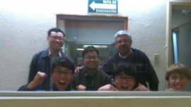 The first night of LA Nam-Seoul Grace Church's team of four in Tijuana, Mexico, the missionaries were invited to a local radio station though the Korean missionary who was serving there for almost a d