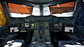 Cockpit of an A380