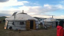 Mongolian traditional tents