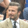 David Beckham Attends Wimbledon Match
