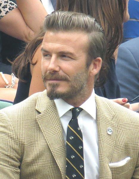 David Beckham Attends Wimbledon Match