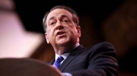 Mike Huckabee speaking at CPAC