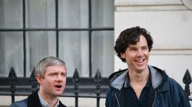 'Sherlock' stars Martin Freeman and Benedict Cumberbatch