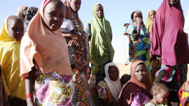 Nigerian Refugees in a Camp in Niger