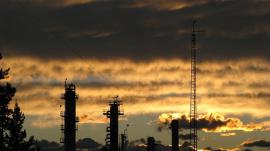 Shell Oil Sunset