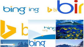 collage of Bing browser logo