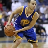 Stephen Curry On Court During a Game