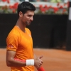 Novak Djokovic Plays At Roland Garros