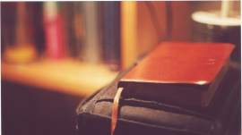 A Photo of A Leather-Bound Bible
