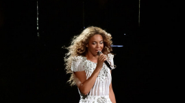 Beyonce during The Mrs. Carter Show World Tour in Montreal