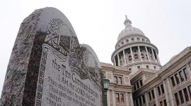 Photo of A Ten Commandments Monument In Texas