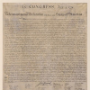 Photo of the Declaration of Independence