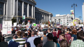 Gay marriage rally