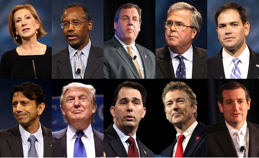 Republican Candidates Square Off in First GOP Debate of ...