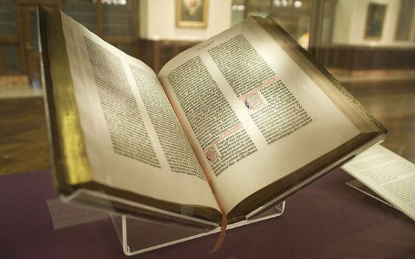 Photo of the Gutenberg Bible