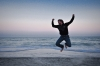 Man Jumps for Joy