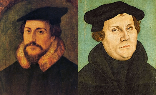a comparison of martin luther and john calvin How did martin luther and john calvin understand justification and  easily  understand the theological differences of luther and calvin.