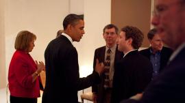 President Obama with Mark Zuckerberg