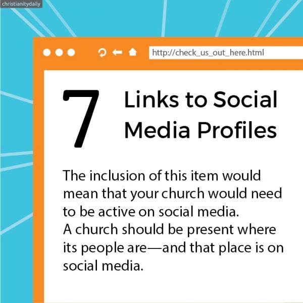 8 things church website