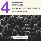 High church attendance