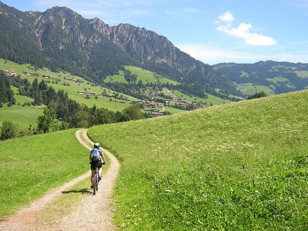 Cross-country biking