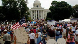 Roy Moore support rally