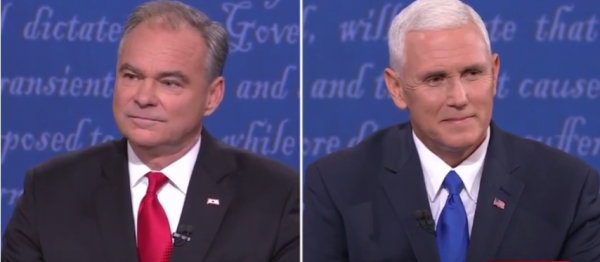 Tim Kaine and Mike Pence