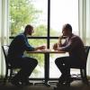 Men talking Bible study