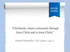 Dietrich Bonhoeffer<Life Together>