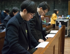 Sang Min Park (left) is the leader of Yonsei's Christian Student Union, which is an umbrella organization that coordinates all the other Christian clubs on campus