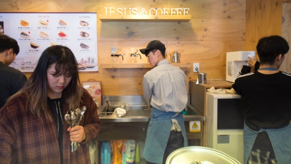 (Photo : )Ahn hopes Jesus Coffee can attract these worshipers who are looking for a fresh take on their religion.