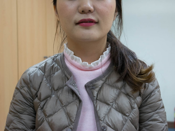 (Photo : ): Esther Park, a North Korean defector whose name has been changed for security reasons, is pursuing studies in comparative politics. She said she chose her course of study because to fulfill what she says is her mission to spread Christianity to North Korea, she wants to learn about the North Korean social system.