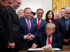 President Donald J. Trump signs H.R. 2476 on Friday, Jan. 24, 2020, in the East Room of the White House.