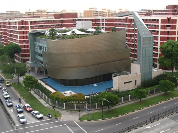 City Harvest Church, located in Singapore. The church decided to suspend offline meetings and offer Sunday services online.