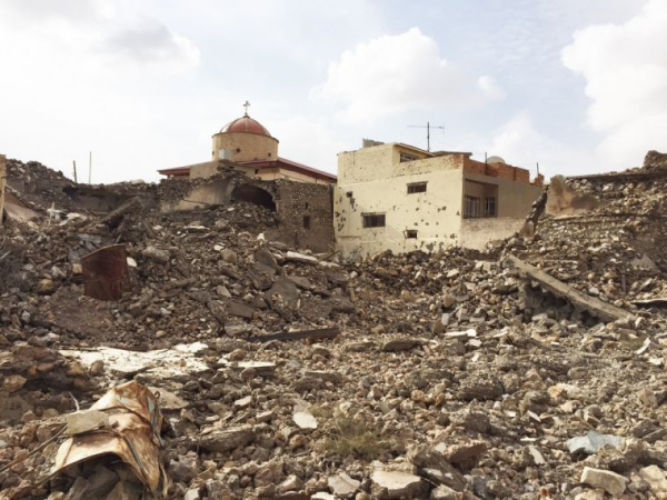 Destruction in Batnaya(Photo: Aid to the Church in Need)