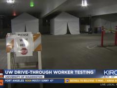 Drive-Through coronavirus testing set up in Seattle