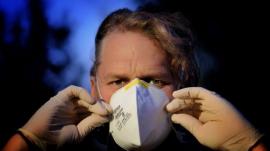 man mask against COVID-19