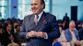 Pastor Rodney Howard-Browne, the leader of Revival International Ministries and River at Tampa Bay Church in Tampa, Fl.