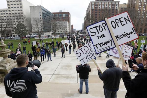 Michigan Anti-Whitmer Coronavirus Lockdown Protestor Blasts Whitmer