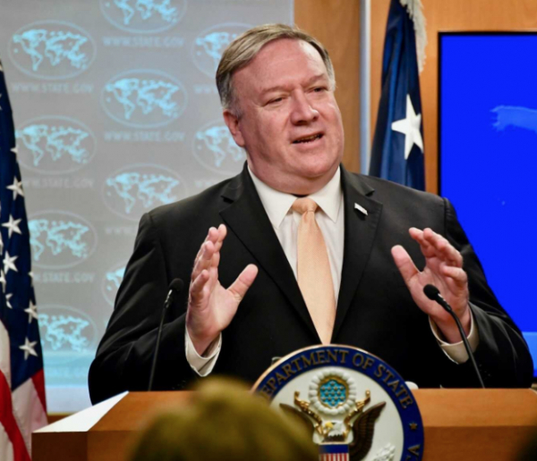 Secretary of State Mike Pompeo persisted in his criticism of China on Wednesday