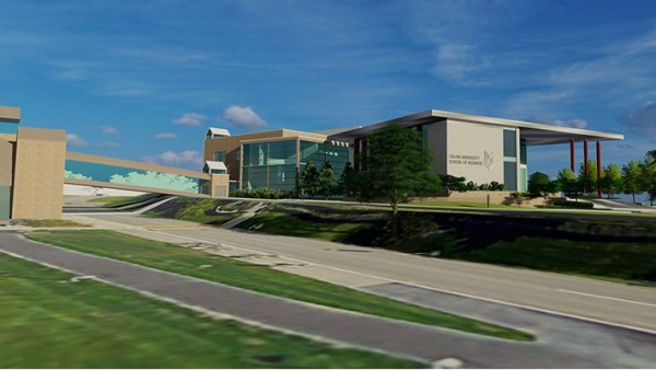 Rendering of the School of Business building, courtesy of GMB Architecture & Engineering