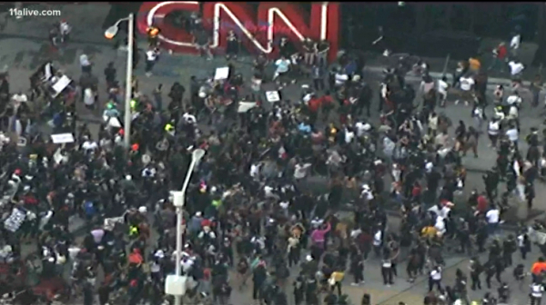 The CNN Center in Atlanta has become a target d