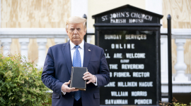 President Trump Visits St. John's Episcopal Church