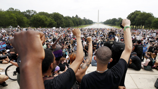 Peaceful protest being held in DC.