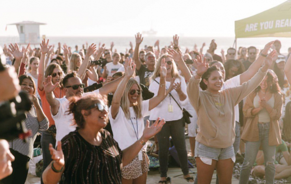 People were baptized and saved throughout an amazing worship at the local beach.