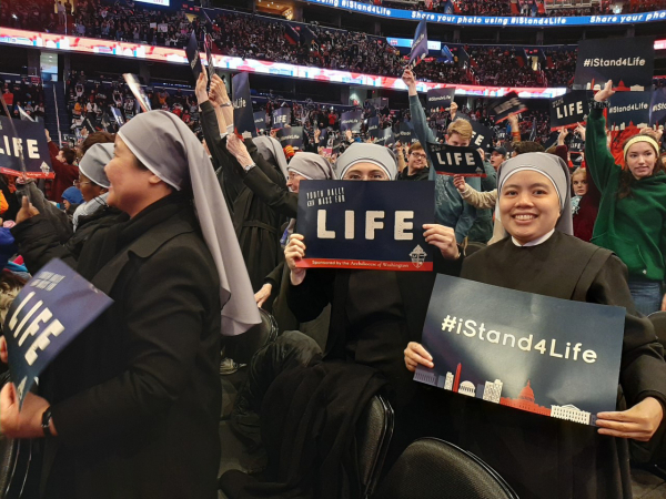 The Little Sisters of the Poor Marching for Life 2020