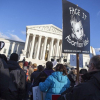 Pro-life activists at 2015 Annual March for Life at Supreme Court