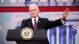 Vice President Mike Pence warned of the potential Biden presidency trampling on liberties