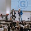 Pastor Rob McCoy and Charlie Kirk at Godspeak Calvary Chapel