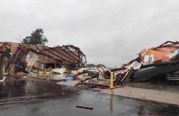 Refuge Baptist Church torn apart from a tornado